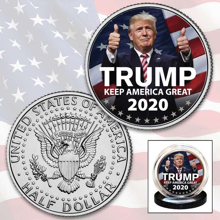 An eye-catching conversation piece and lifetime keepsake that makes a great 2020 Presidential Election collectible