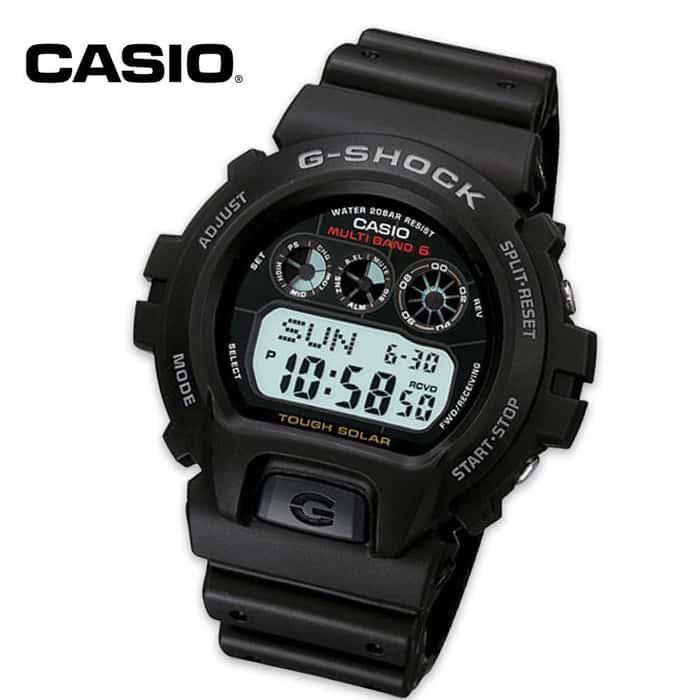 Casio G Shock Solar Powered Atomic Wristwatch