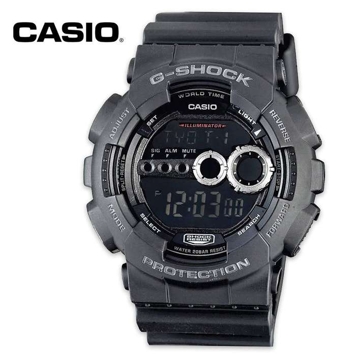 Casio G-Shock Protection Black Resin