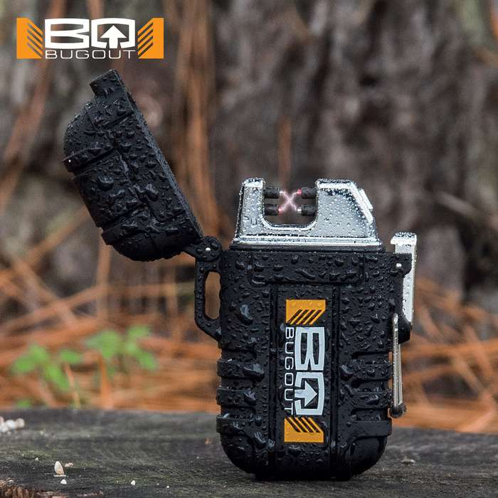 Two powerful arcs of electricity are generated by this, state-of-the-art, rechargeable lighter, allowing you to start a fire anywhere