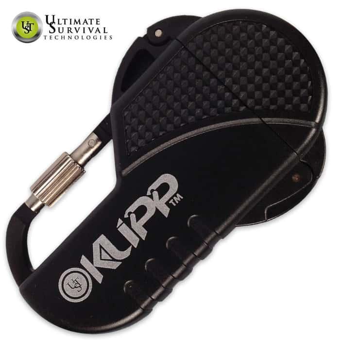 UST Klipp Lighter With Carabiner Black