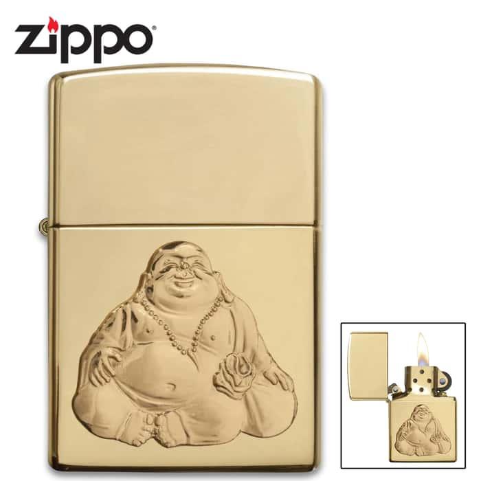 Zippo laughing Buddah lighter closed