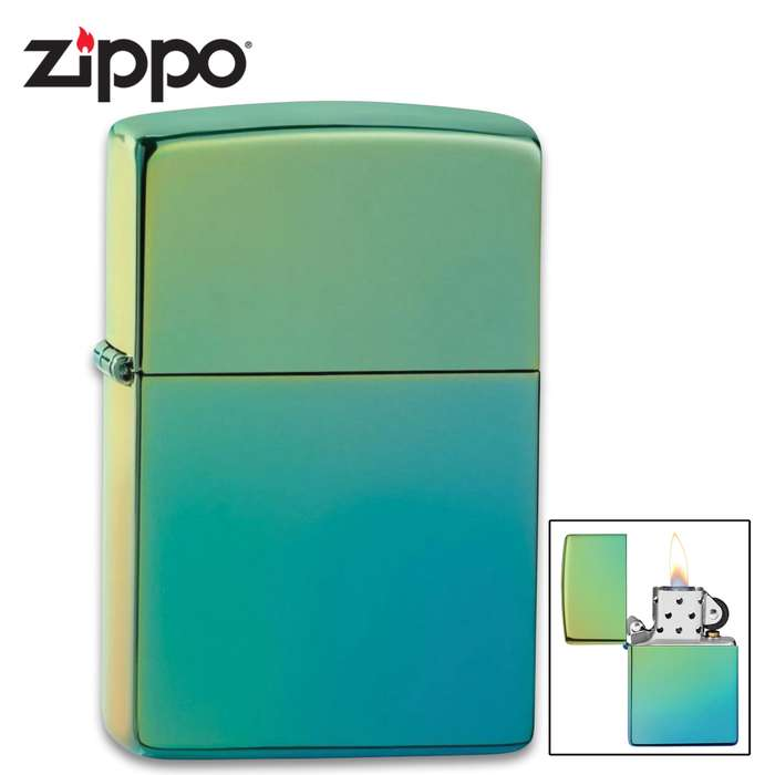 Zippo high polish teal lighter
