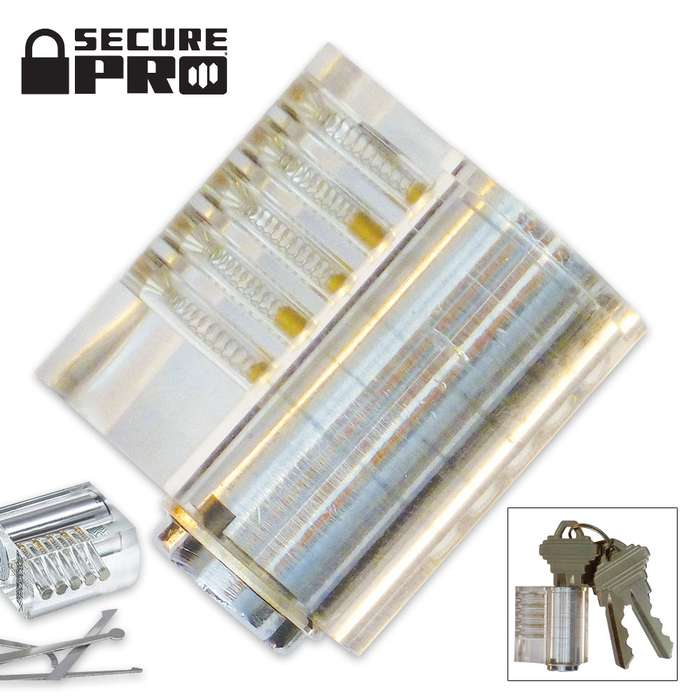 Secure Pro Clear Standard Pin Practice Lock