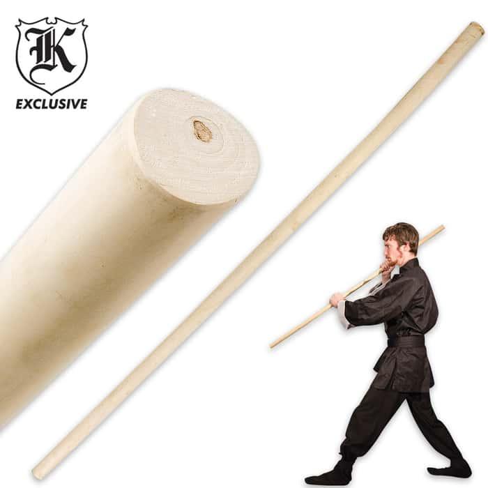 4' Wax Wood Self Defense / Training Staff