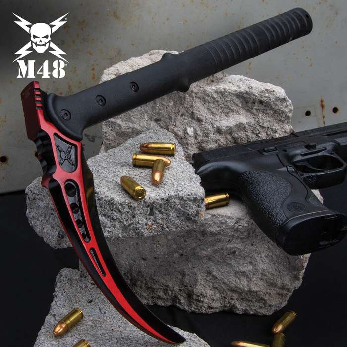 Updating the traditional Filipino design to reap havoc instead of crops, United Cutlery presents its M48 Red Kama