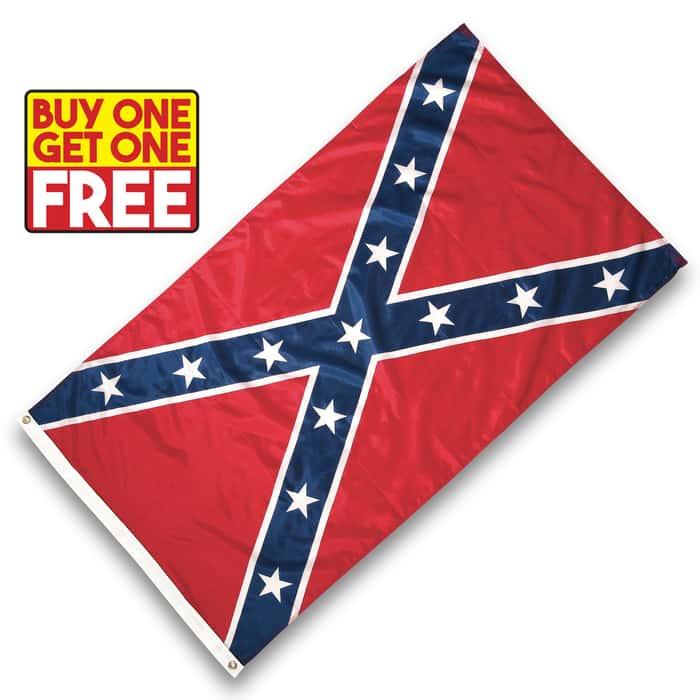 Confederate / Rebel Battle Flag - 3' x 5' - BOGO