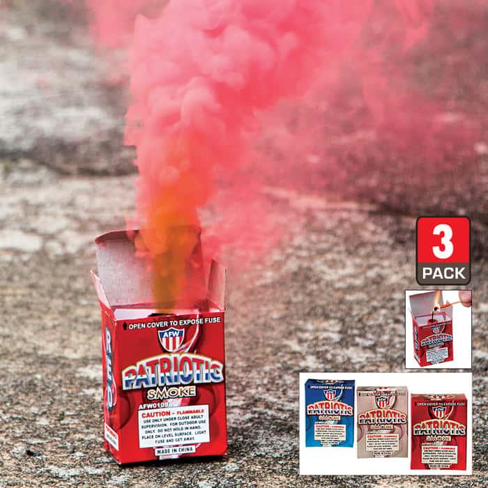 Patriotic Smoke Fountain 3-Pack