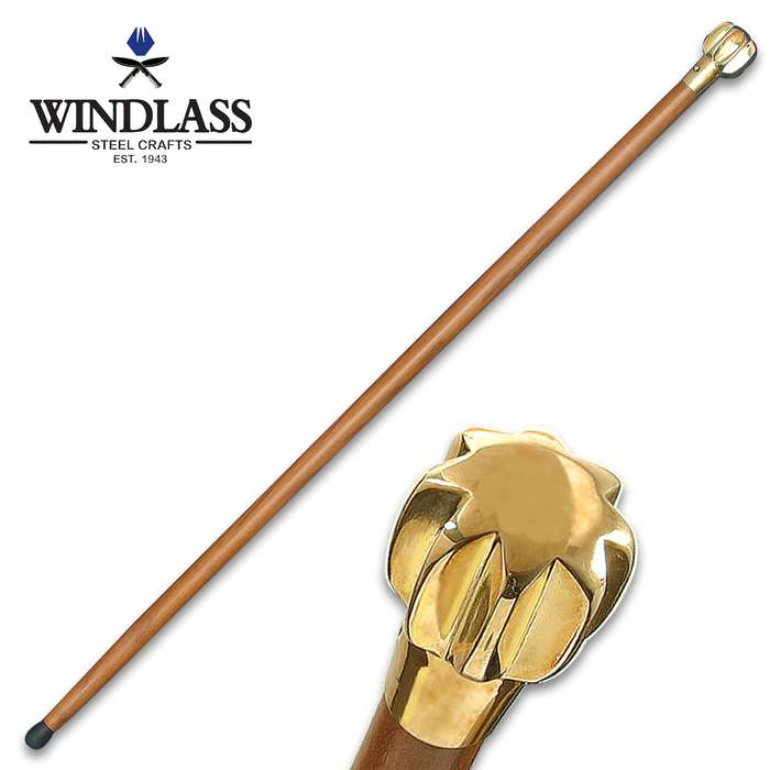Walk with confidence and power with the Windlass Steelcrafts Mace Cane that features a Medieval mace head