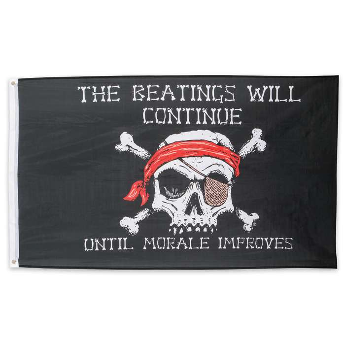 Beatings Will Continue Pirate Flag - 3' X 5'