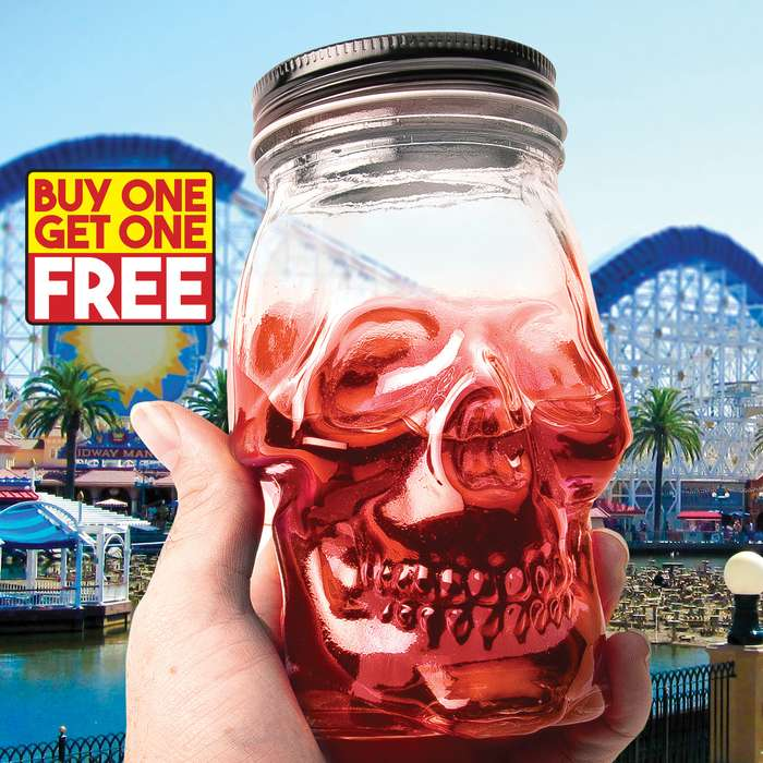 This isn't your Grandma's old Mason Jar! Our Skull Head Mason Jar is just a little creepier with its leering grin