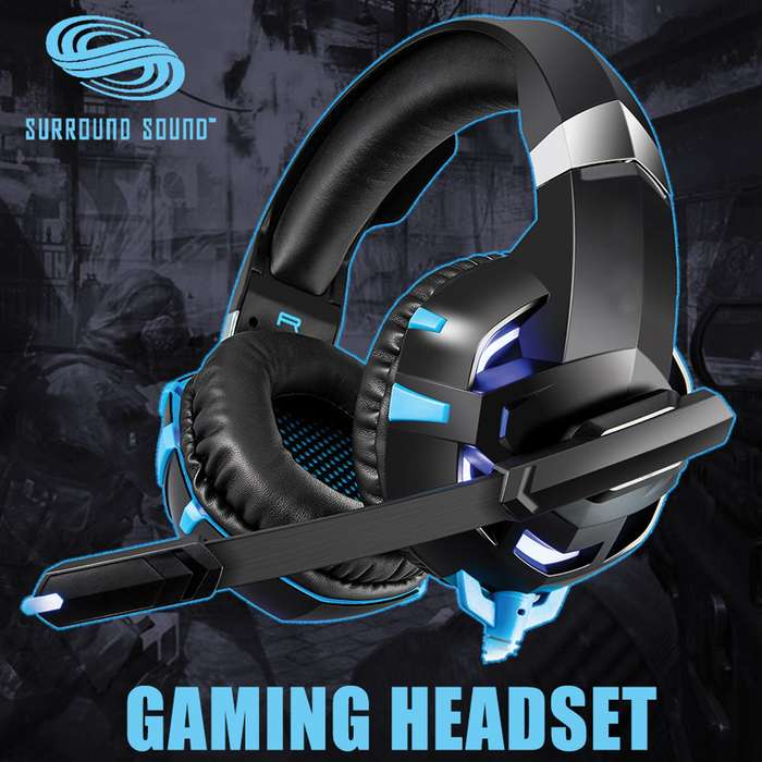Professional Surround Sound Gaming Headset - Dynamic Sound, Noise Cancelling Microphone, Separate Volume Controller, Comfort Cushions