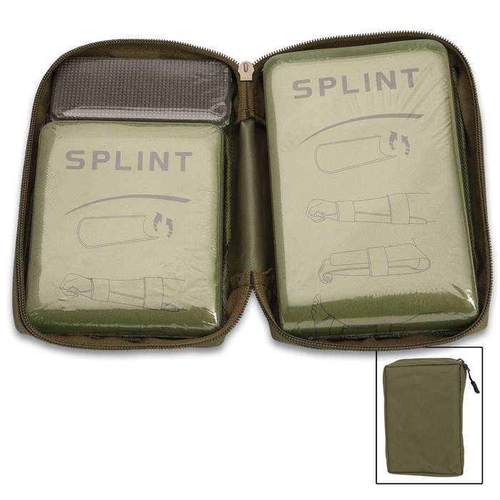 The Reusable Splint Set has different sizes of splints so that you are ready for any medical situation that requires a limb to be immobilized