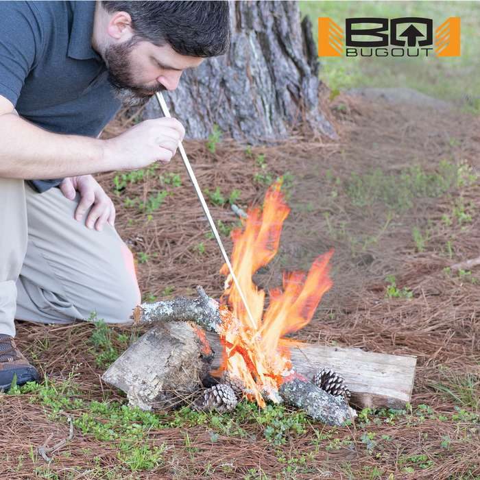 The BugOut Portable Fire Bellows is one of the most valuable tools that you can have in your survival or camping gear
