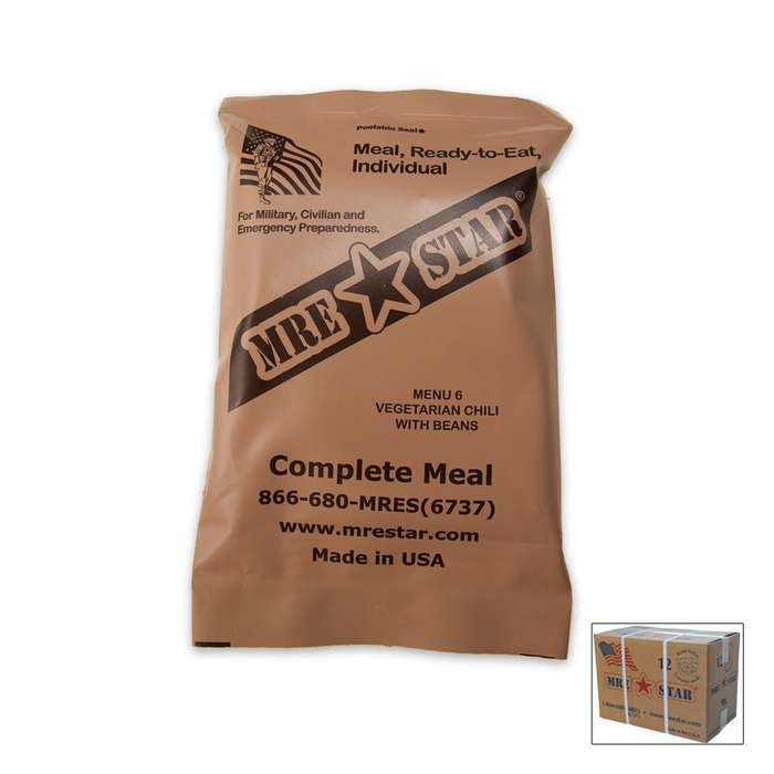 Meals Ready to Eat MRE - 12-Pack