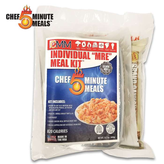 The Individual MRE Spaghetti And Meat Balls Meal Kit is a nutritious must-have for your bug-out bag