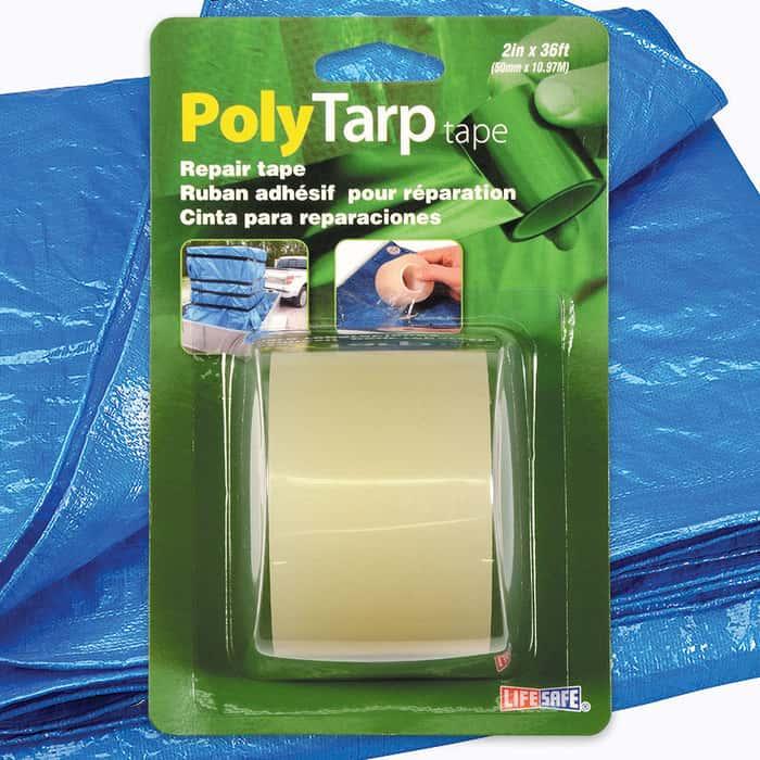 """Clear Poly Tarp Repair Tape - 2"""" x 36'"""