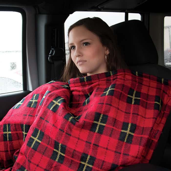 Comfy Cruise Heated Travel Blanket
