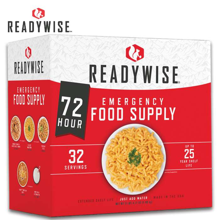72-Hour Emergency Food Supply with 25 Year Life