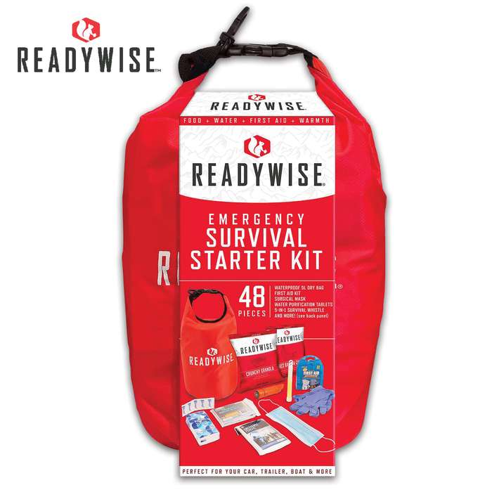 The Emergency Survival Starter Kit is the perfect grab-and-go bag that covers the basics when you need to leave in a hurry