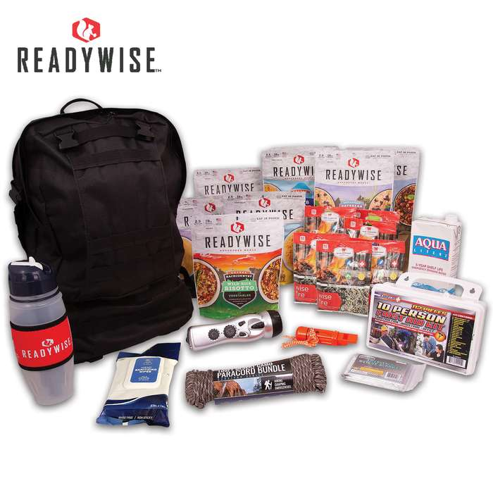 A versatile bag packed with essential emergency items, it has all the emergency essentials that you need when bugging-out