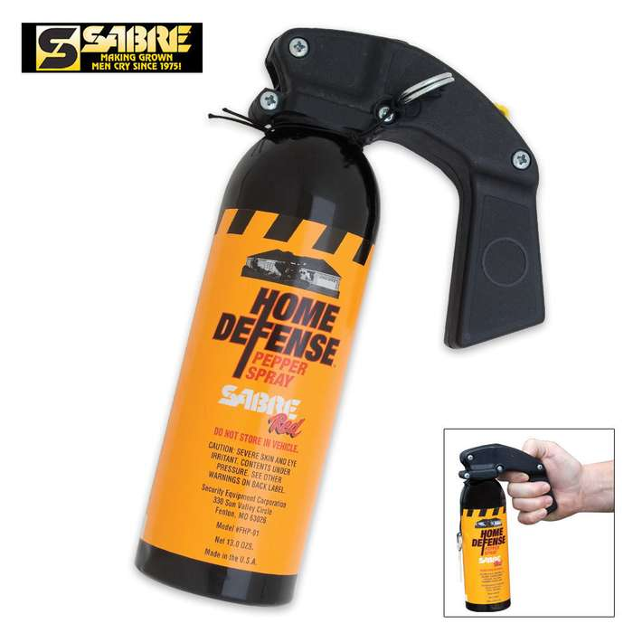 Sabre Home Defense Red Pepper Gel With Wall Mount - 25-Foot Range, UV Marking Dye, Four-Year Shelf-Life