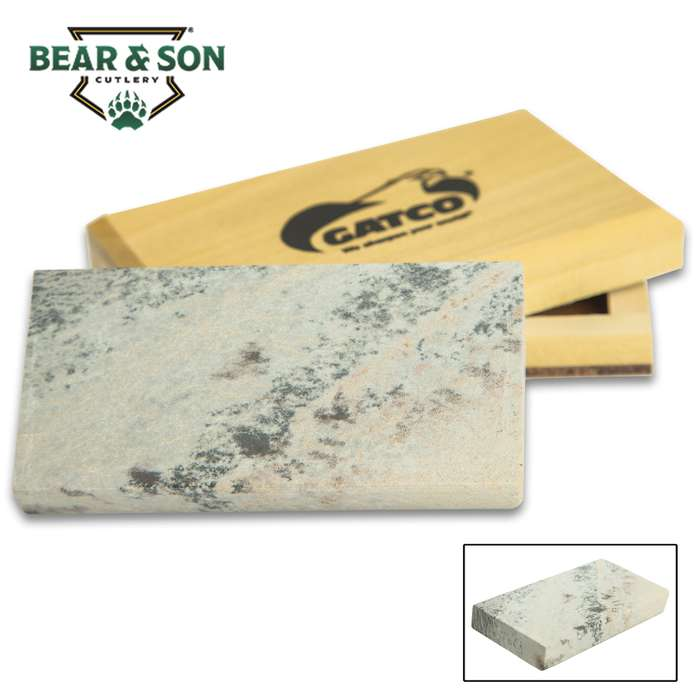 GATCO uses 100 percent natural Arkansas stone, mined from novaculite quarries, that are carefully cut to size and skillfully finished to insure flatness