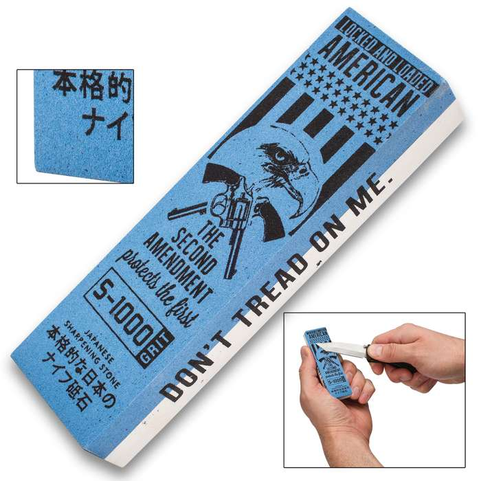 """""""Don't Tread On Me"""" Japanese Water Stone / Sharpening Stone"""
