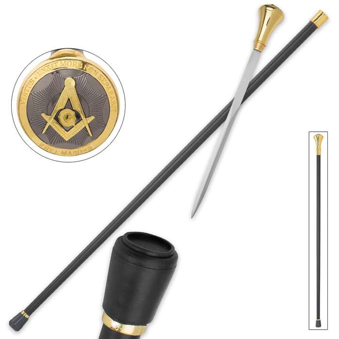 Masonic Seal Sword Cane