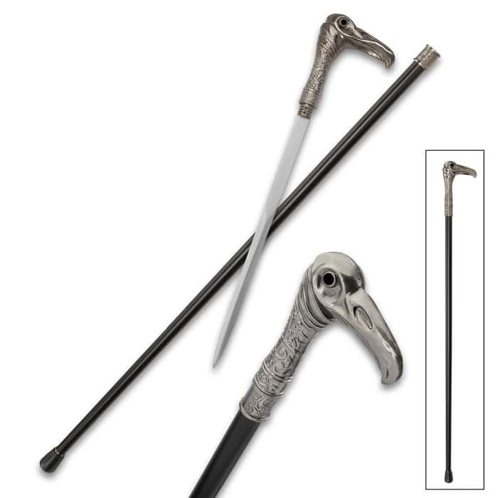 Vulture Head Assassin Sword Cane