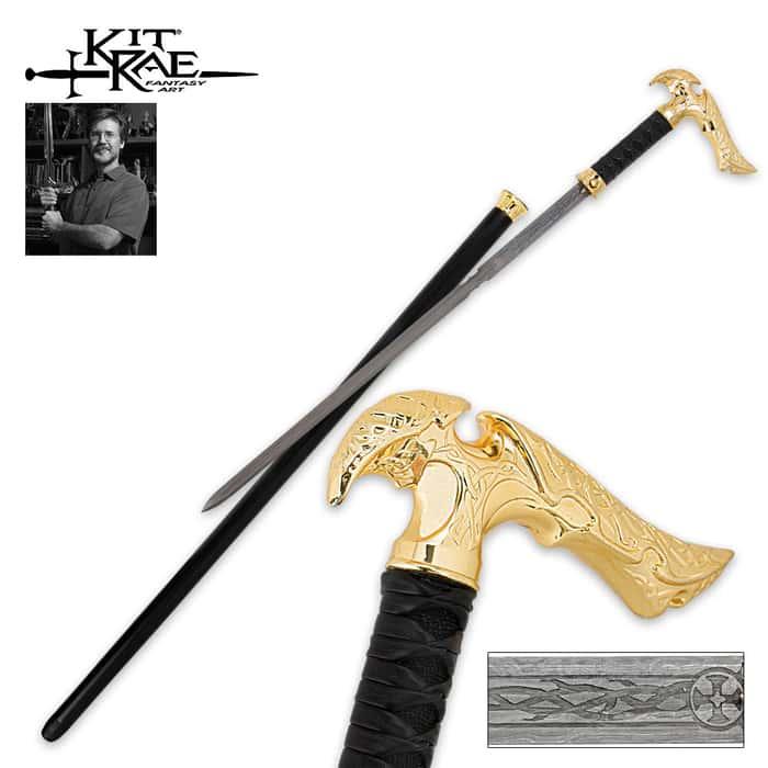 Axios Damascus Special Edition Sword Cane