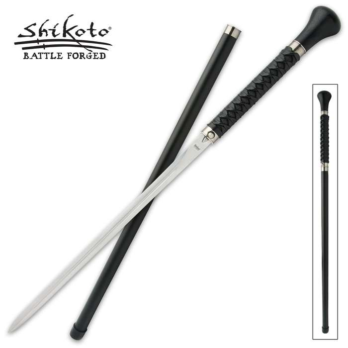 Using the same time-tested techniques as they do when they craft their katanas, Shikoto master swordsmiths made this sword cane