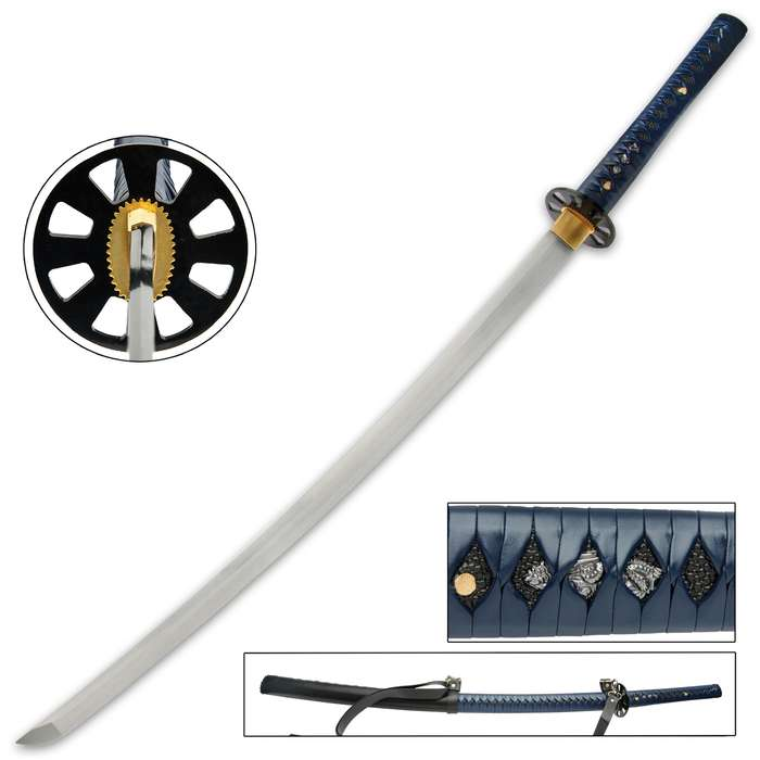 ur Blue Zombie Slayer Katana is a definite must-have for your Zombie Apocalypse armory collection