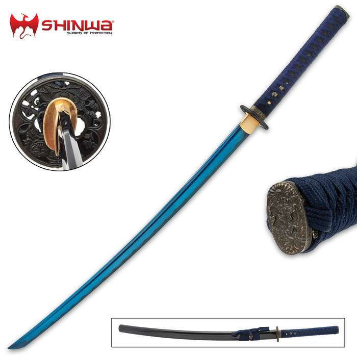 Since time out of mind, blue has been a royal color of kings and Shinwa's Blue Majesty Samurai Sword is definitely worthy of a king