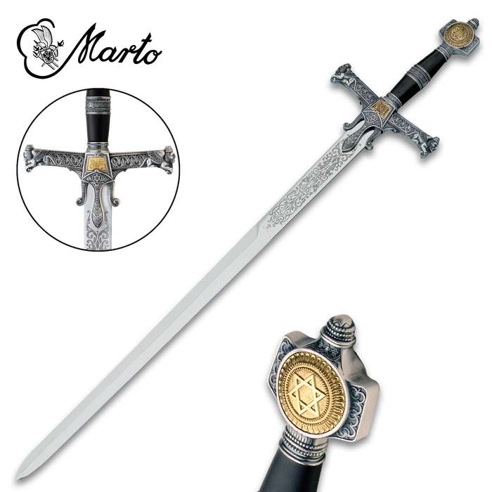 """This King Solomon Sword is a part of the exclusive collection, """"Historical, Fantastic and Legend Swords"""", made by MARTO"""
