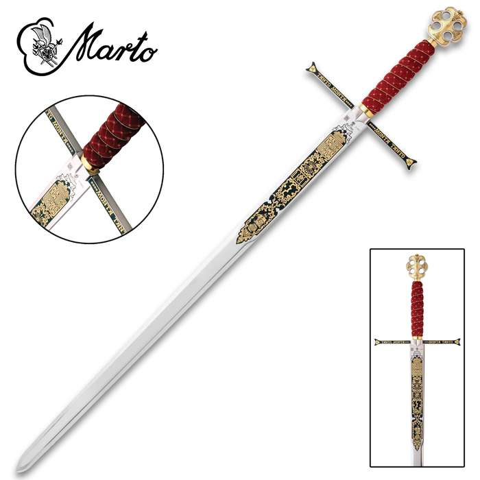 "This limited edition Catholic Kings Sword is a part of the exclusive collection, ""Heroes and Civilizations"", made by MARTO"