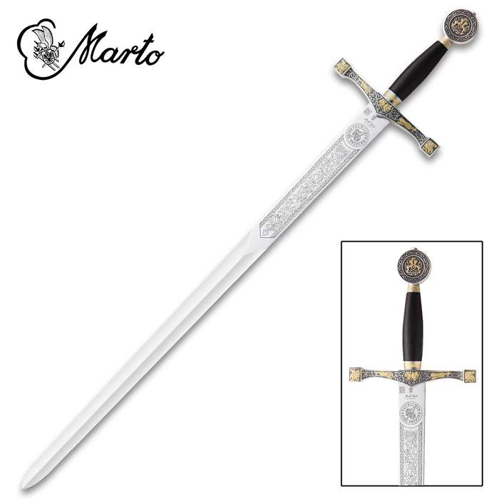 """This replica Excalibur Sword is a part of the exclusive collection, """"Historical, Fantastic and Legend Swords"""", made by MARTO"""