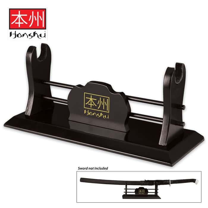Honshu Single Sword Wooden Display Stand