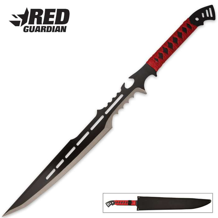 Red Guardian Fantasy Sword With Sheath