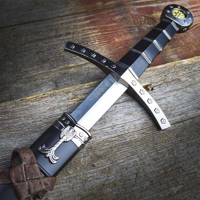 "23"" KING ARTHUR MEDIEVAL Historical SHORT SWORD DAGGER Knife Scabbard + SHEATH"