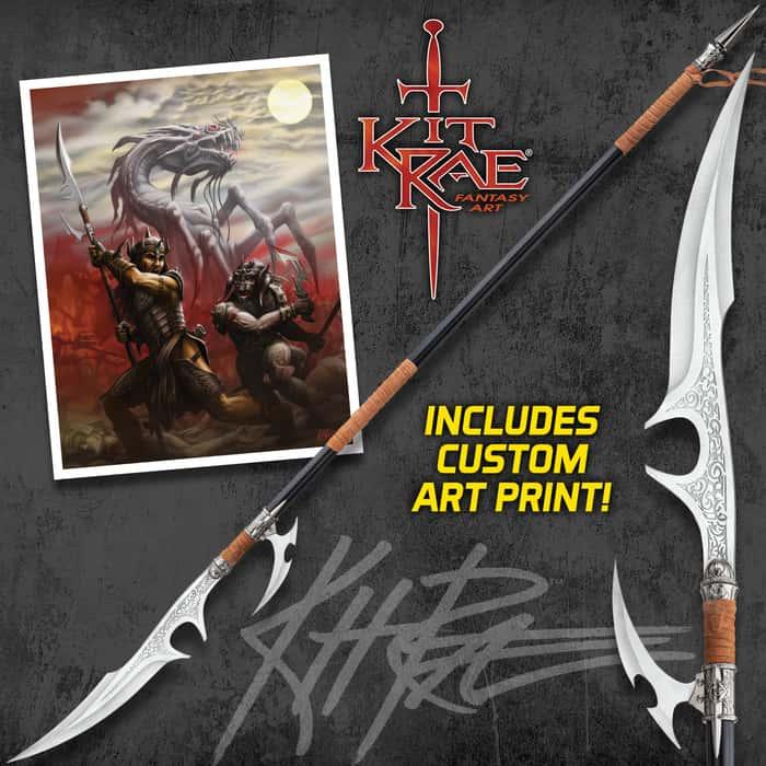 Kit Rae Ellexdrow War Spear With Art Print