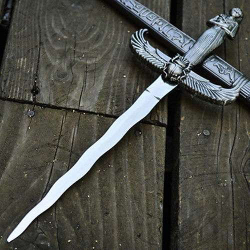 "14"" KING ARTHUR MEDIEVAL Historical SHORT SWORD DAGGER Knife Scabbard + SHEATH"