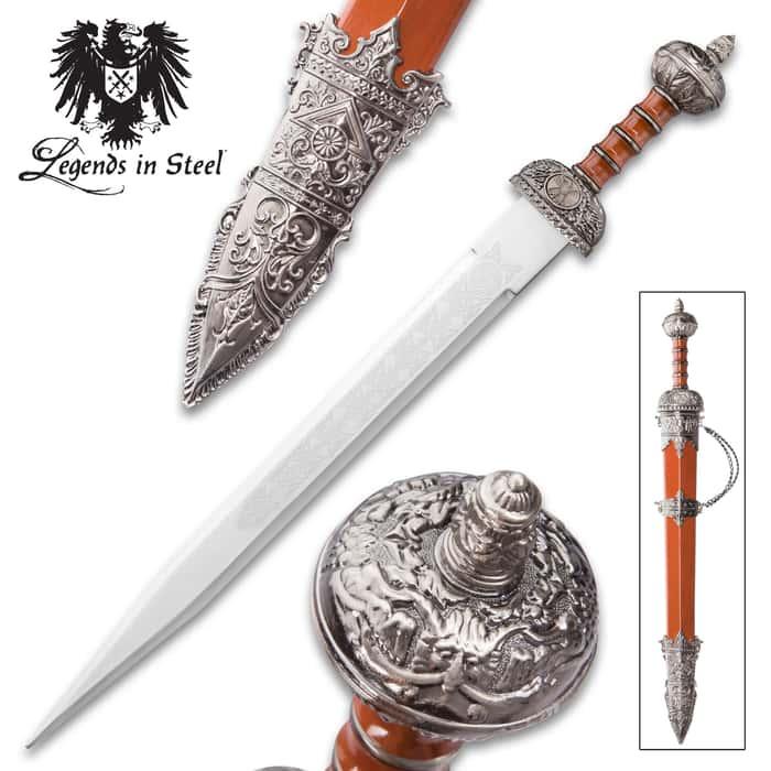 Roman Guard Gladius Sword And Scabbard