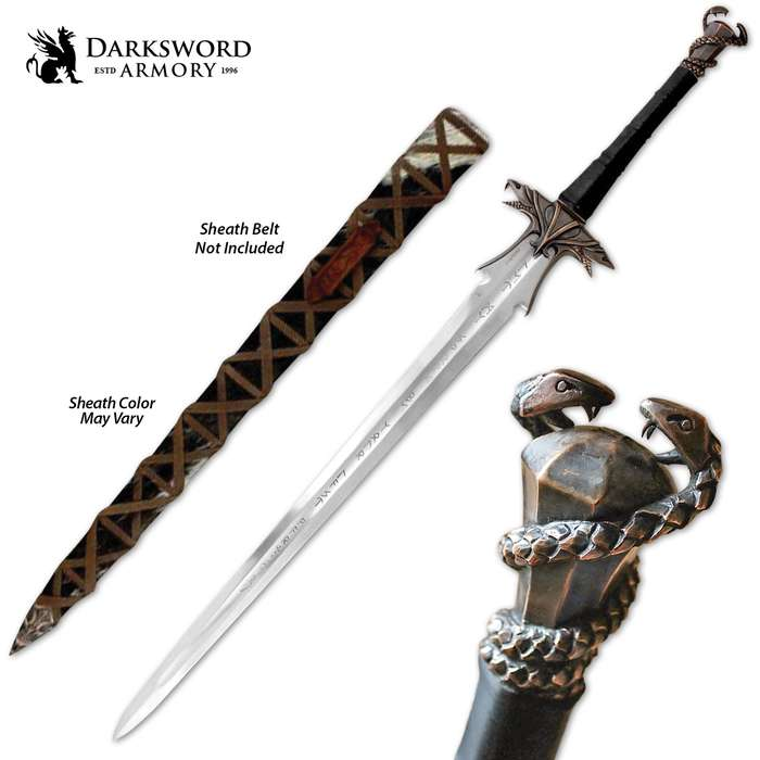 """Darksword Armory Warmonger Sword And Scabbard - 5160 High Carbon Steel Blade, Battle-Ready - Length 45"""""""