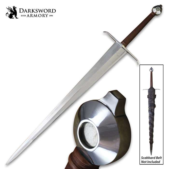 """Darksword Armory Alexandria Sword And Scabbard - 5160 High Carbon Steel Blade, Battle-Ready - Length 45"""""""