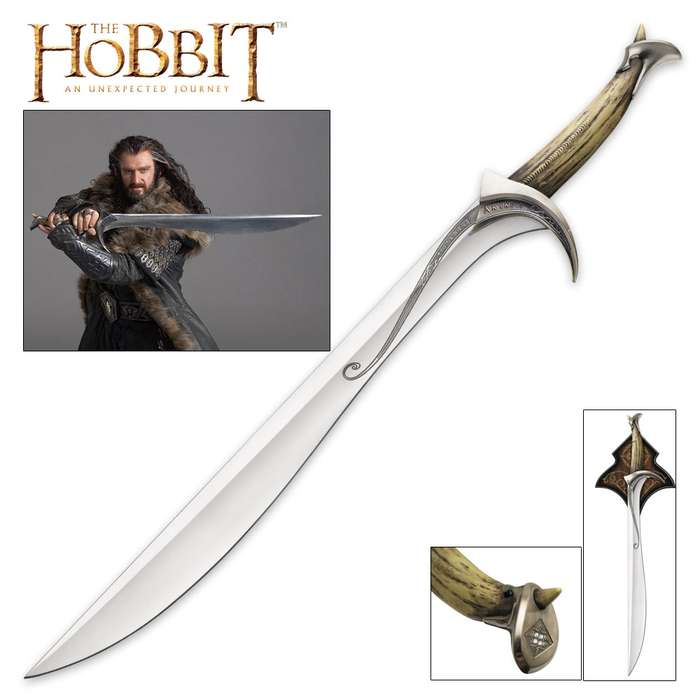 "United Cutlery Orcrist Sword Of Thorin Oakenshield From The Hobbit With Wall Plaque - 38 3/4"" Length"