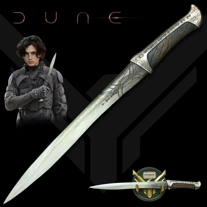 The Crysknife of Paul Atreides is an officially licensed, exact reproduction of the actual filming prop used in the movie