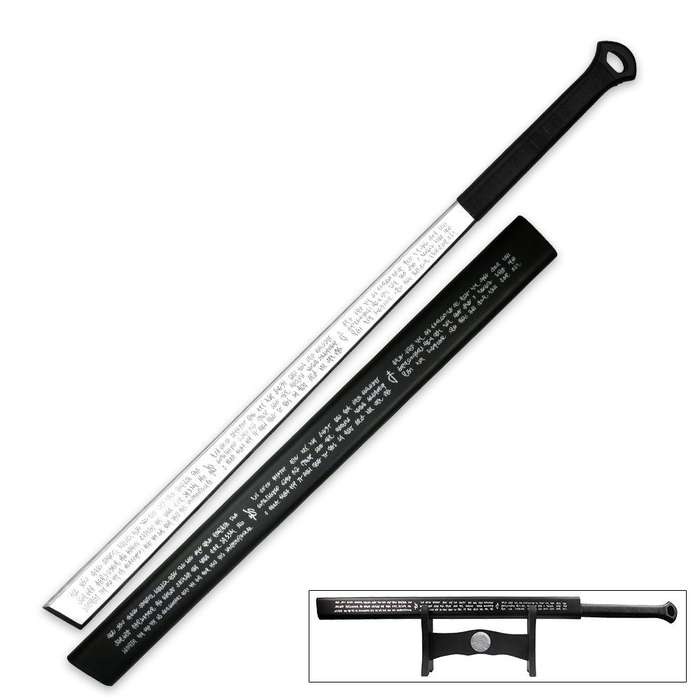 Full Tang Triple Edged Sword With Display Stand