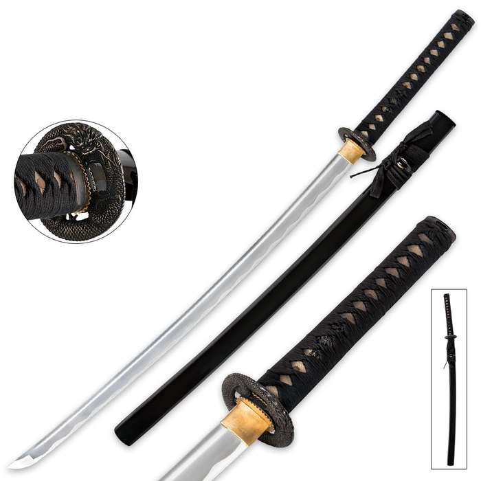 Dragon Warrior Samurai Katana With Scabbard