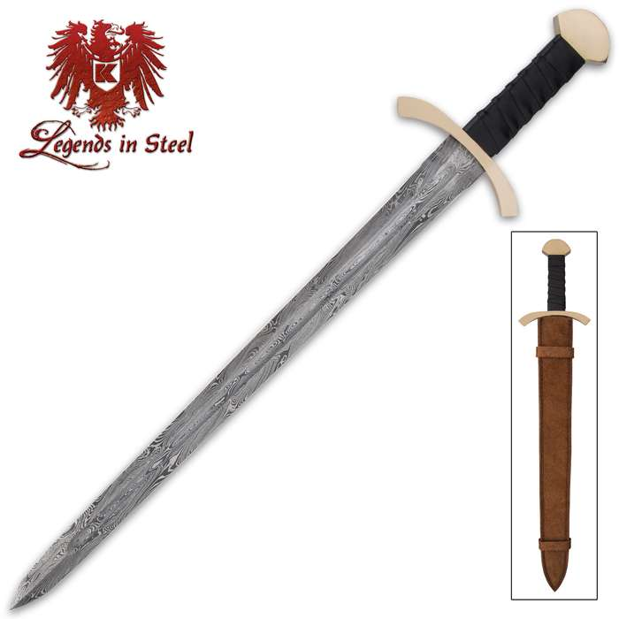 The Black Knight Sword is an authentic Medieval piece that's great for display, theatrical productions or cosplay